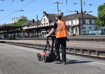 Geophysical Measurement with Radar GPR, Explosive Ordnance Probing, Münster, Ruhrgebiet, Deutsche Bahn DB