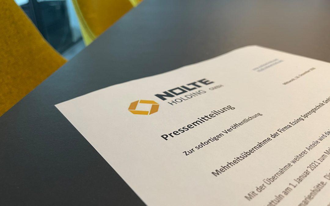 Mehrheitsübernahme der Firma Essing Sprengtechnik GmbH